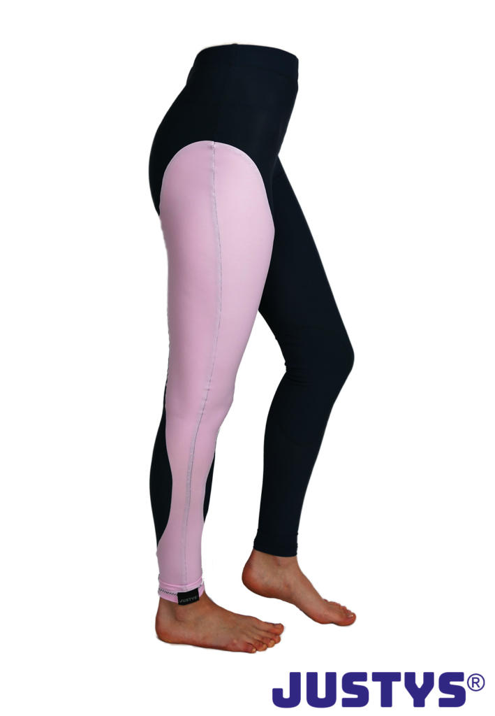 JUSTYS® - Competition Sondermodell Black-Rosé Distanzreithose